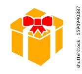 present box icon. logo element... | Shutterstock .eps vector #1590940387