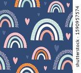 seamless abstract rainbow on...   Shutterstock .eps vector #1590957574