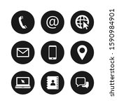 contact us social web icons... | Shutterstock .eps vector #1590984901
