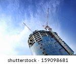 building crane and building... | Shutterstock . vector #159098681