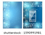 beautiful hand drawn christmas... | Shutterstock .eps vector #1590991981