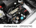 detail of a car engine bay with ... | Shutterstock . vector #159101741