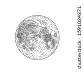 silhouette of full moon hand... | Shutterstock .eps vector #1591034371