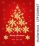 christmas and new years red...   Shutterstock . vector #1591068667