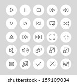 media player icons and symbols | Shutterstock .eps vector #159109034