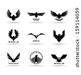 eagles  10  | Shutterstock .eps vector #159114059