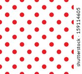 Polka Dot Fabric. Retro Vector...