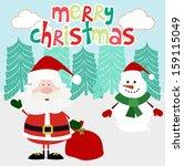 merry christmas card | Shutterstock .eps vector #159115049