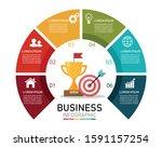 business semi circle...   Shutterstock .eps vector #1591157254