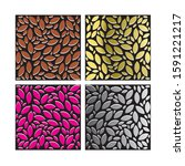 color graphical leaves pattern... | Shutterstock . vector #1591221217