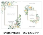 pastel floral wedding...   Shutterstock .eps vector #1591239244