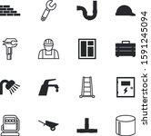 construction vector icon set... | Shutterstock .eps vector #1591245094