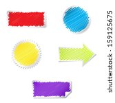 color labels set with scribble... | Shutterstock .eps vector #159125675