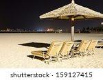 beach night illumination with a ...   Shutterstock . vector #159127415