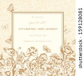 Vector Vintage Wedding Card...