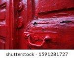 Old Wooden Vintage Red Door