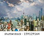 shanghai lujiazui financial... | Shutterstock . vector #159129164