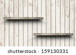 wood shelf on wood wall texture ... | Shutterstock . vector #159130331