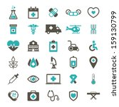 medical icon   color | Shutterstock .eps vector #159130799