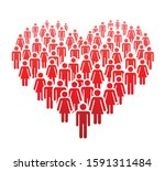 a large number of people... | Shutterstock .eps vector #1591311484
