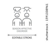 seasonal affective disorder... | Shutterstock .eps vector #1591338961