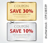 sale coupon  voucher  tag. gold ...