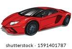 Red Sport Powerful  Lamborghini ...