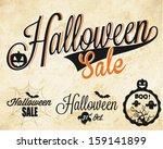 halloween sale vector badges... | Shutterstock .eps vector #159141899