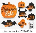 Halloween Sale Vector Badges...