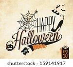 happy halloween vector...   Shutterstock .eps vector #159141917