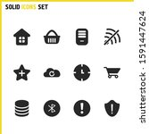 ui icons set with cloud  house...