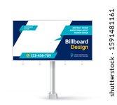 billboard  creative advertising ... | Shutterstock .eps vector #1591481161