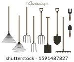 gardening tool. garden tools ...   Shutterstock .eps vector #1591487827
