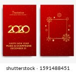 happy new 2020 year. happy new... | Shutterstock .eps vector #1591488451
