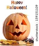 halloween pumpkin and autumn...   Shutterstock . vector #159151109