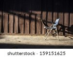 old chair with lighting | Shutterstock . vector #159151625