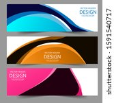 abstract header colorful shape... | Shutterstock .eps vector #1591540717
