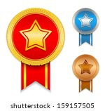 medals with a star | Shutterstock . vector #159157505