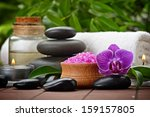 Zen Basalt Stones And Orchid O...
