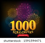 1 million followers... | Shutterstock . vector #1591594471