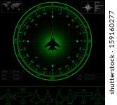 radar screen with compass... | Shutterstock . vector #159160277
