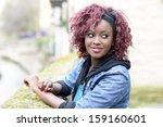portrait of beautiful black...   Shutterstock . vector #159160601