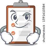 cool clipboard scroll mascot... | Shutterstock .eps vector #1591610584