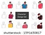 set of man close his eye... | Shutterstock .eps vector #1591650817