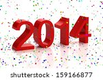 happy new year 2014 | Shutterstock . vector #159166877
