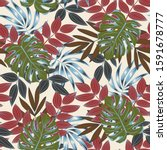 colorful seamless pattern with... | Shutterstock .eps vector #1591678777