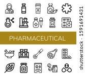 set of pharmaceutical icons....   Shutterstock .eps vector #1591691431