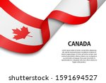 waving ribbon or banner with... | Shutterstock .eps vector #1591694527