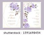 beautiful floral wreath wedding ... | Shutterstock .eps vector #1591698454