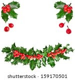 Christmas garland of european...
